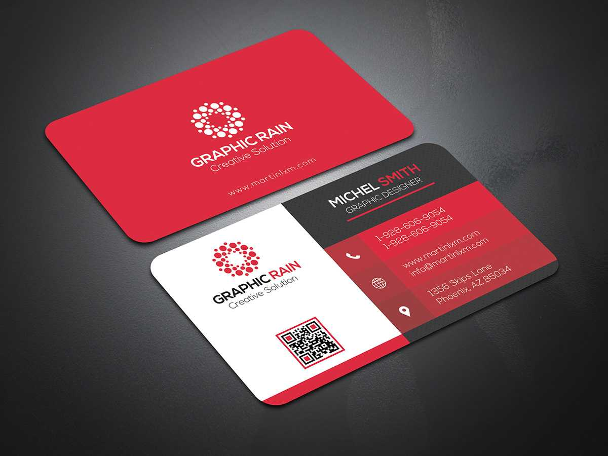 Psd Business Card Template On Behance With Template Name Card Psd