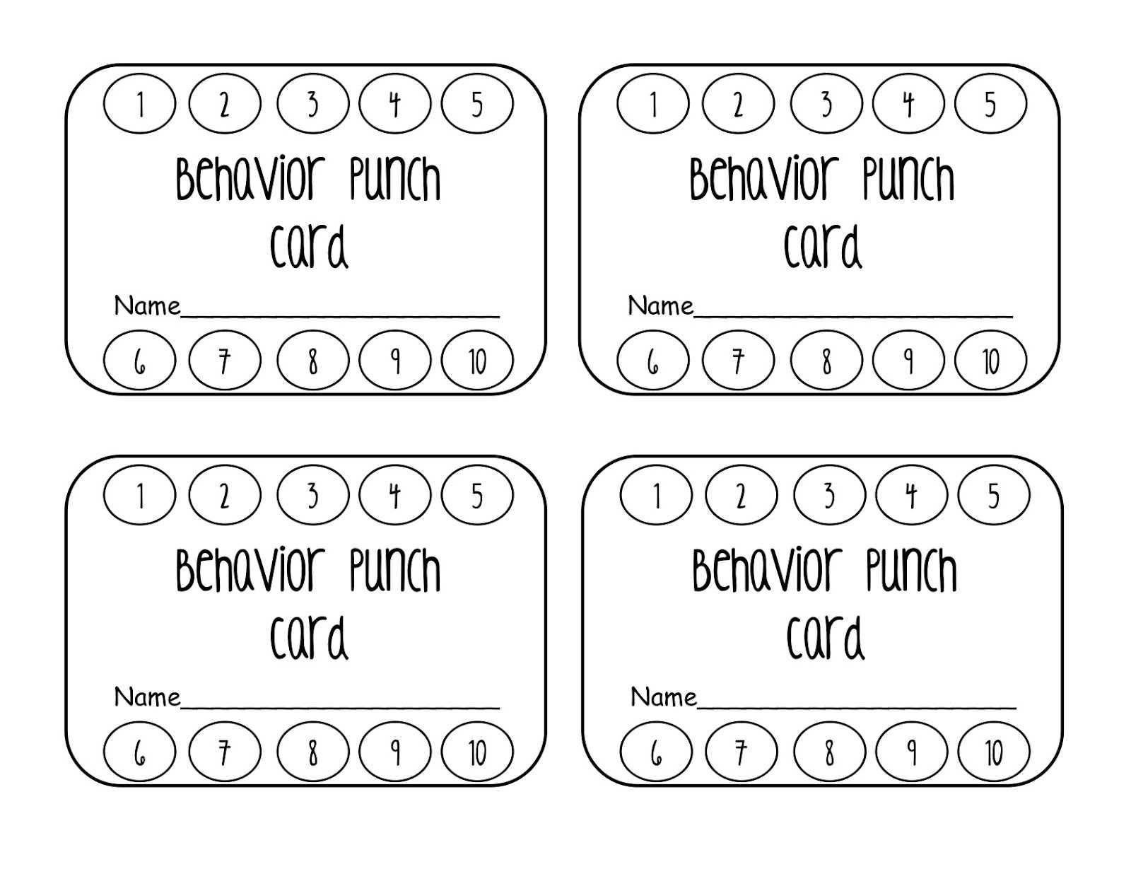 Reward Punch Card Template - Calep.midnightpig.co Regarding Free Printable Punch Card Template