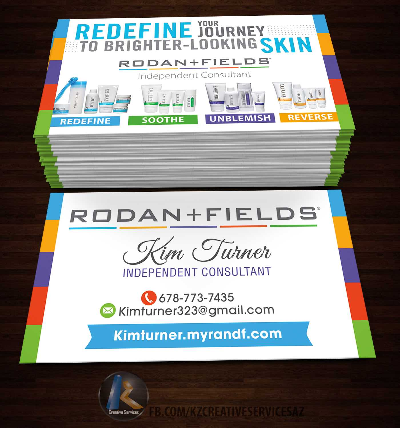 Rodan & Fields Business Cards Style 1 Soldkz Creative Services Throughout Rodan And Fields Business Card Template