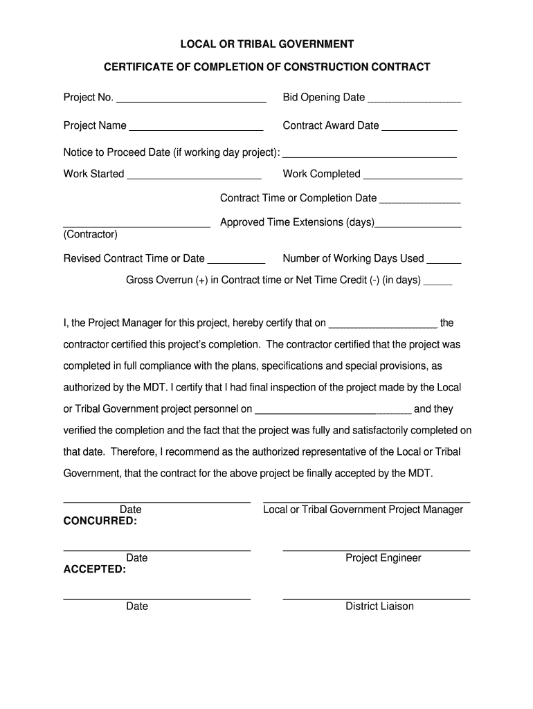 Roofing Certificate Of Completion - Fill Out And Sign Printable Pdf  Template   Signnow Throughout Certificate Of Completion Construction Templates