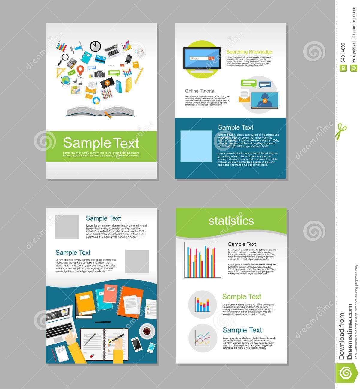 Set Of Flyer. Brochure Design Templates. Education Intended For E Brochure Design Templates