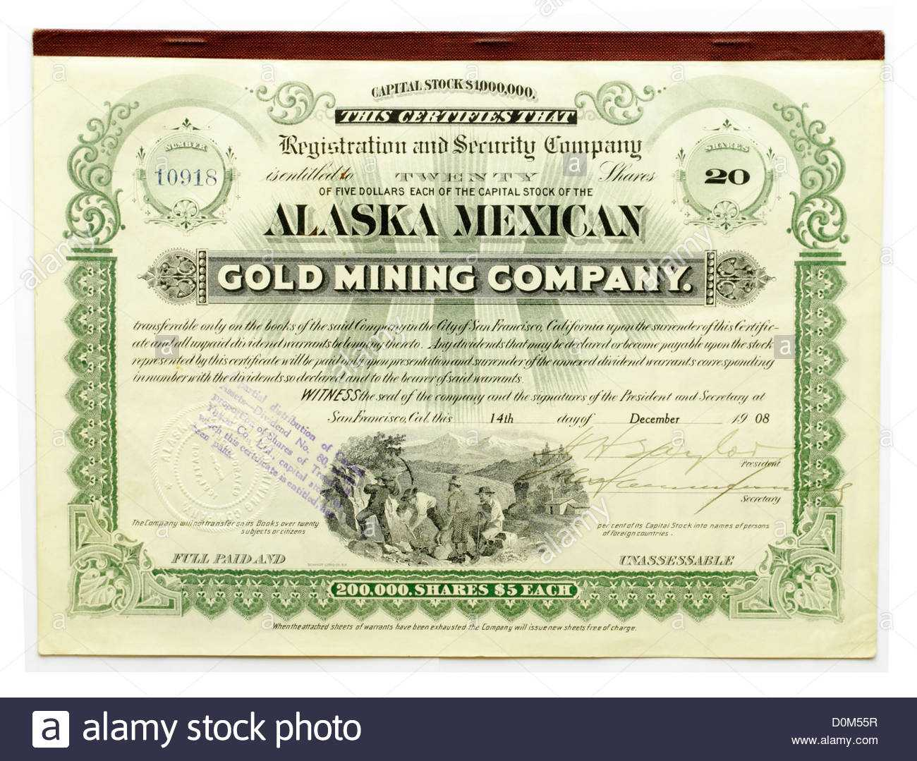 Share Certificate Stock Photos & Share Certificate Stock Inside Corporate Bond Certificate Template