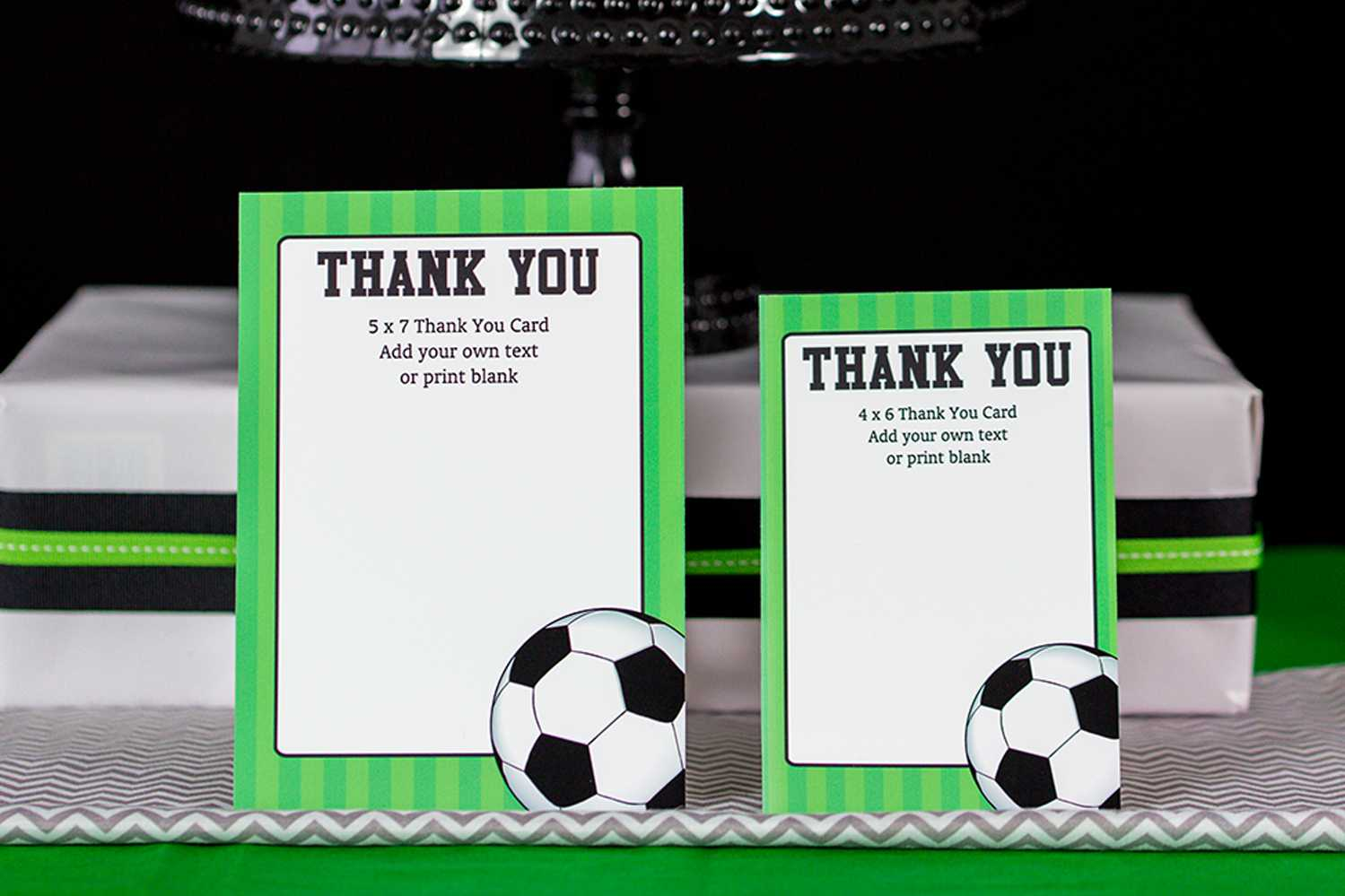 Soccer Thank You - Dalep.midnightpig.co Within Soccer Thank You Card Template