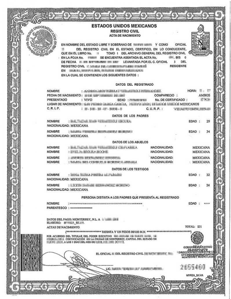 Spanish Birth Certificate Translation | Burg Translations Intended For Birth Certificate Translation Template Uscis