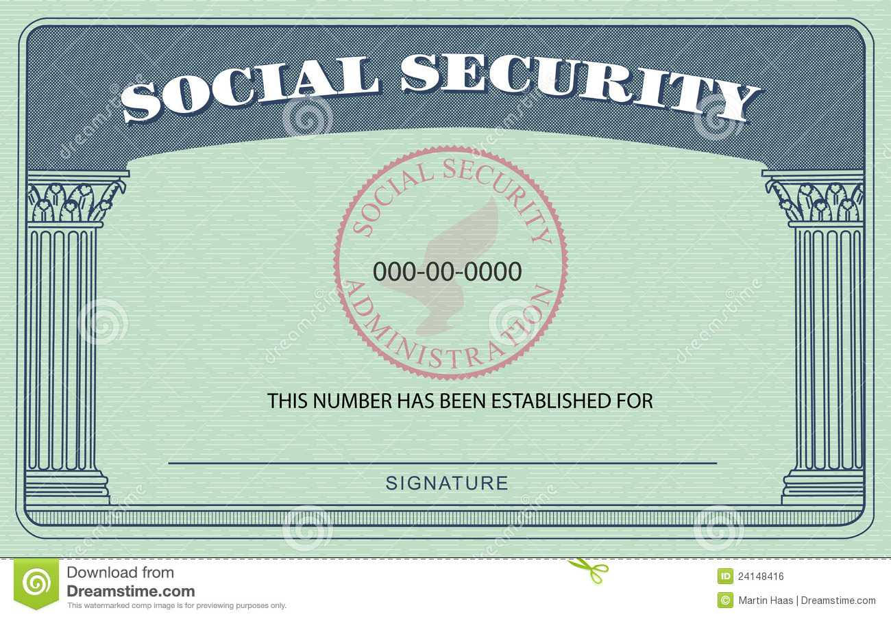 Ssn Card Template. Social Security Card Royalty Free Stock Pertaining To Social Security Card Template Free