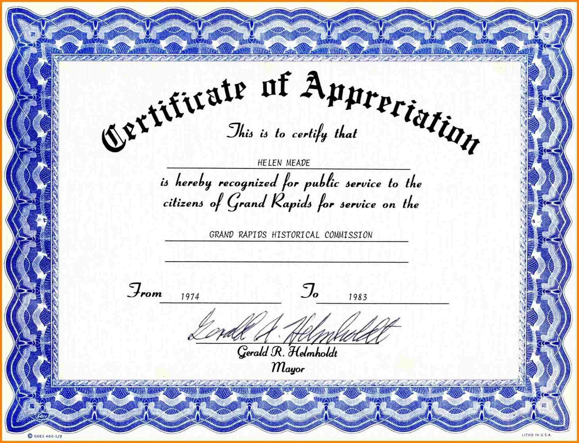 Teacher Appreciation Certificate Template – Dalep.midnightpig.co With Regard To In Appreciation Certificate Templates