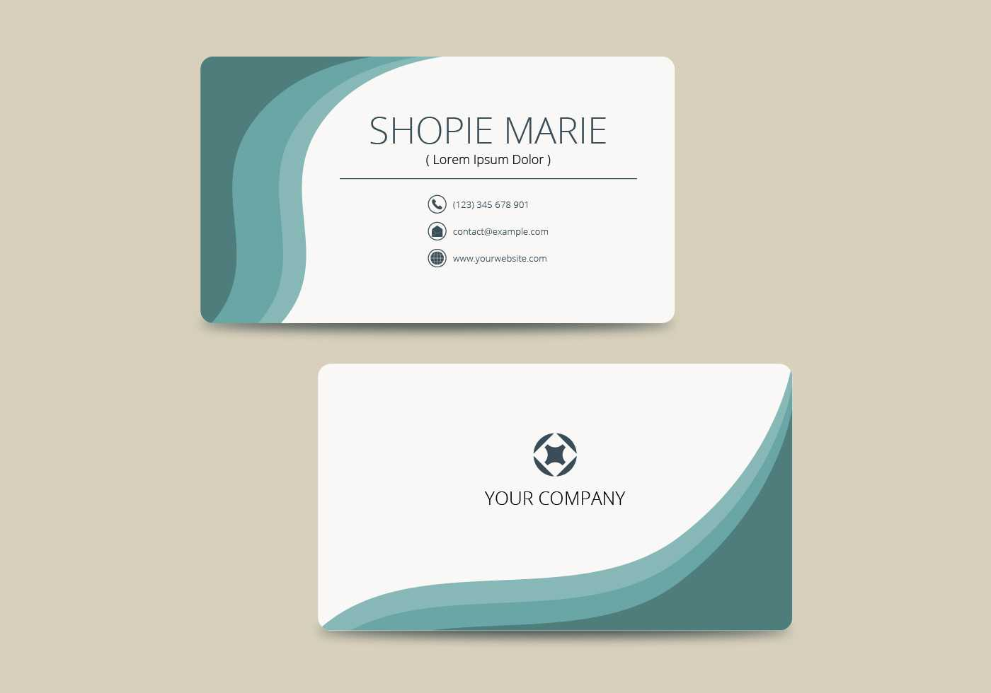 Teal Business Card Template Vector - Download Free Vectors Throughout Call Card Templates