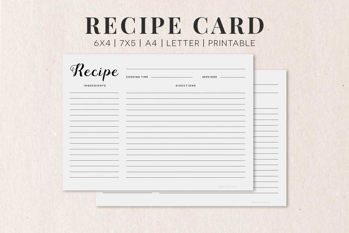 Template For Recipe Card - Calep.midnightpig.co With Free Recipe Card Templates For Microsoft Word