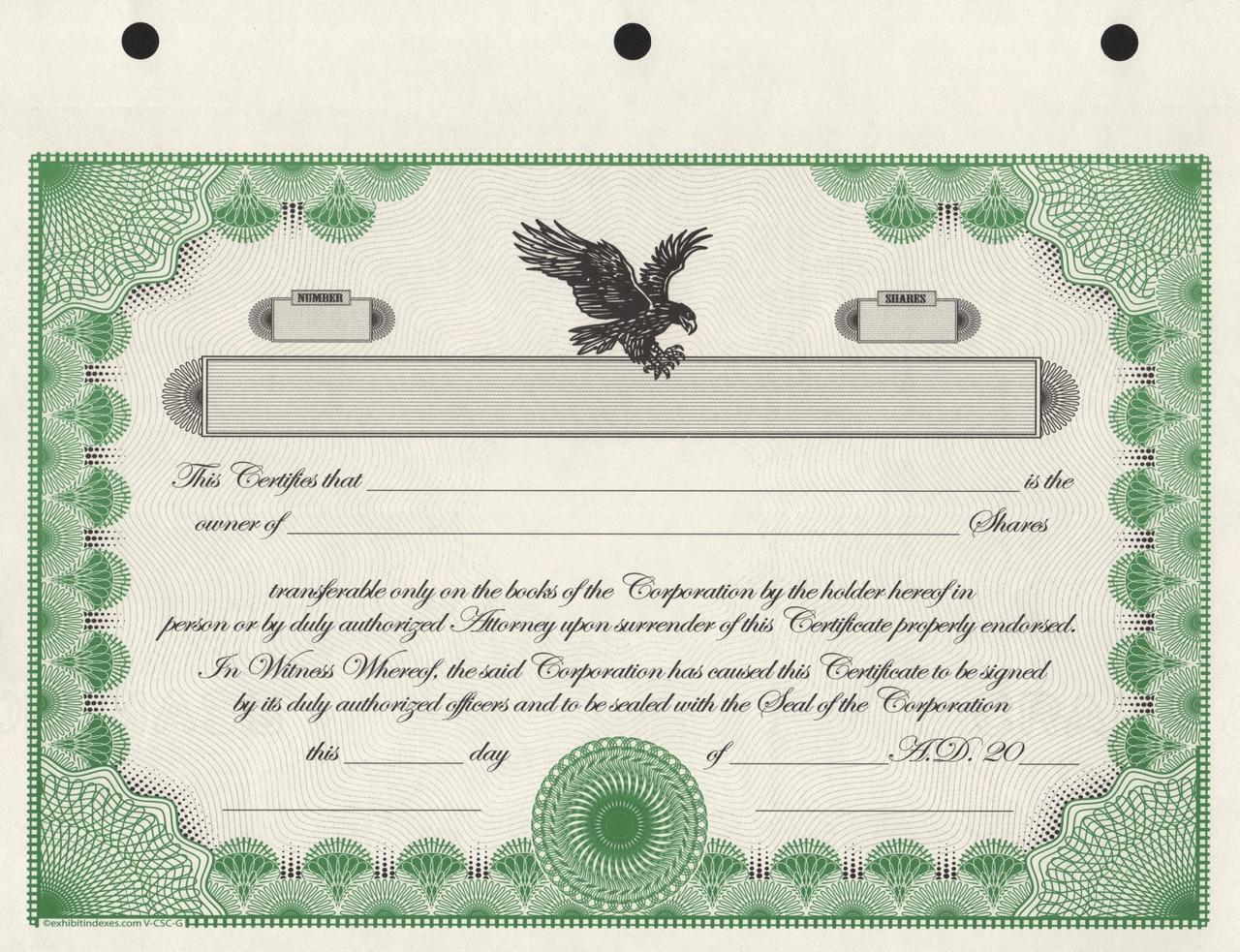 Template Stock Certificate – Dalep.midnightpig.co Inside Corporate Bond Certificate Template