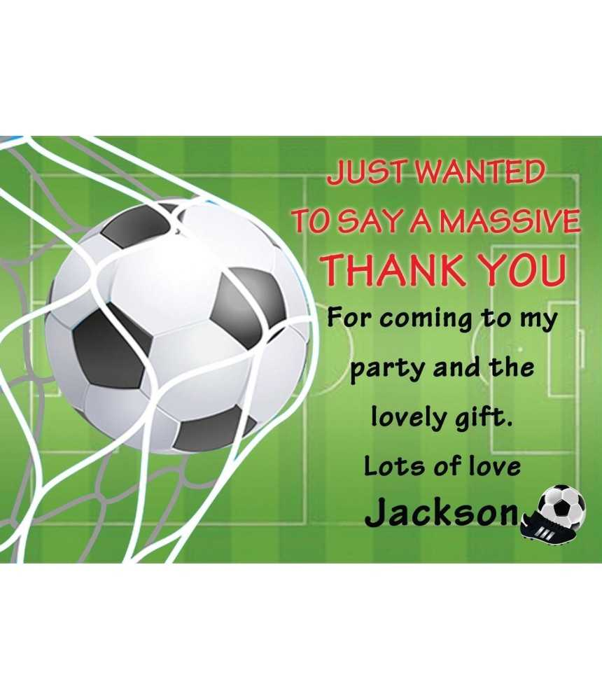 Thank You Football – Dalep.midnightpig.co Within Soccer Thank You Card Template