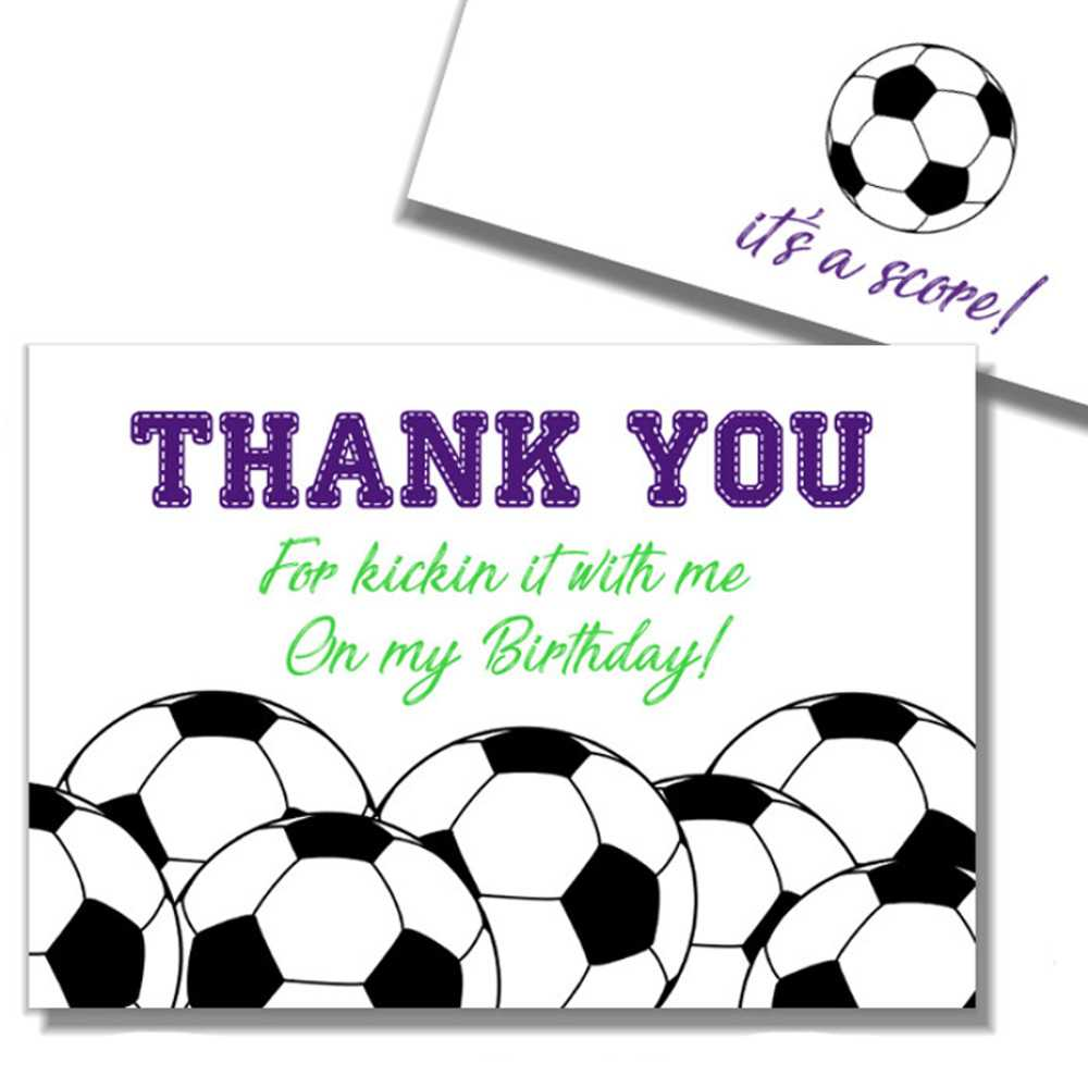 Thank You Soccer – Dalep.midnightpig.co With Soccer Thank You Card Template