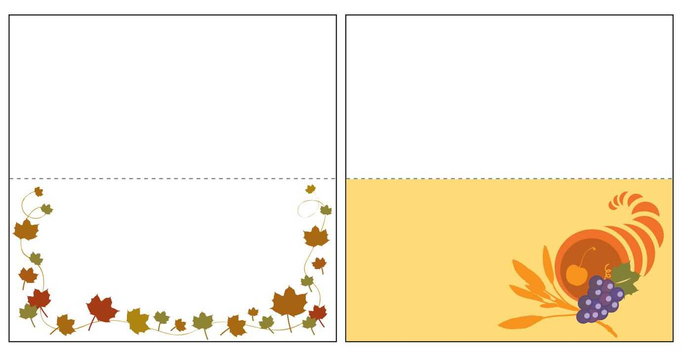 Thanksgiving Place Card Templates Gallery - Free Templates Ideas In Thanksgiving Place Card Templates