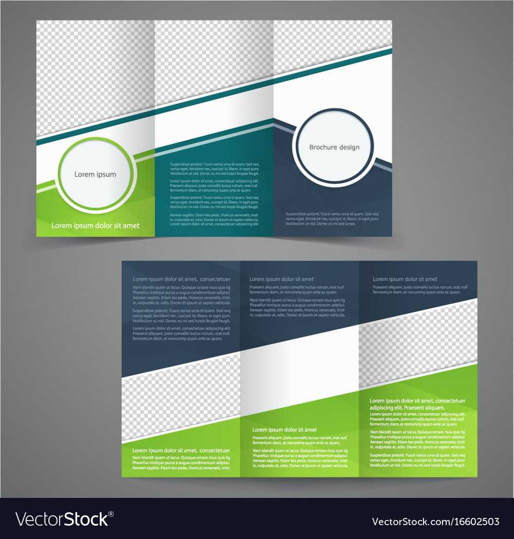 Tri Fold Business Brochure Template Two Sided For Double Sided Tri Fold Brochure Template