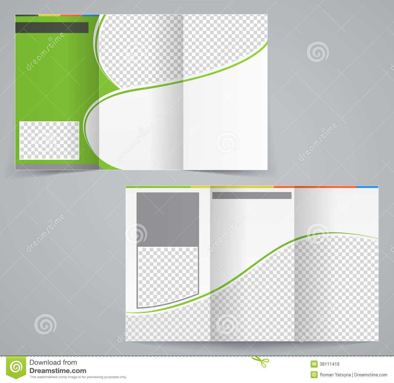 Tri Fold Business Brochure Template, Vector Green Stock Pertaining To Tri Fold Brochure Ai Template