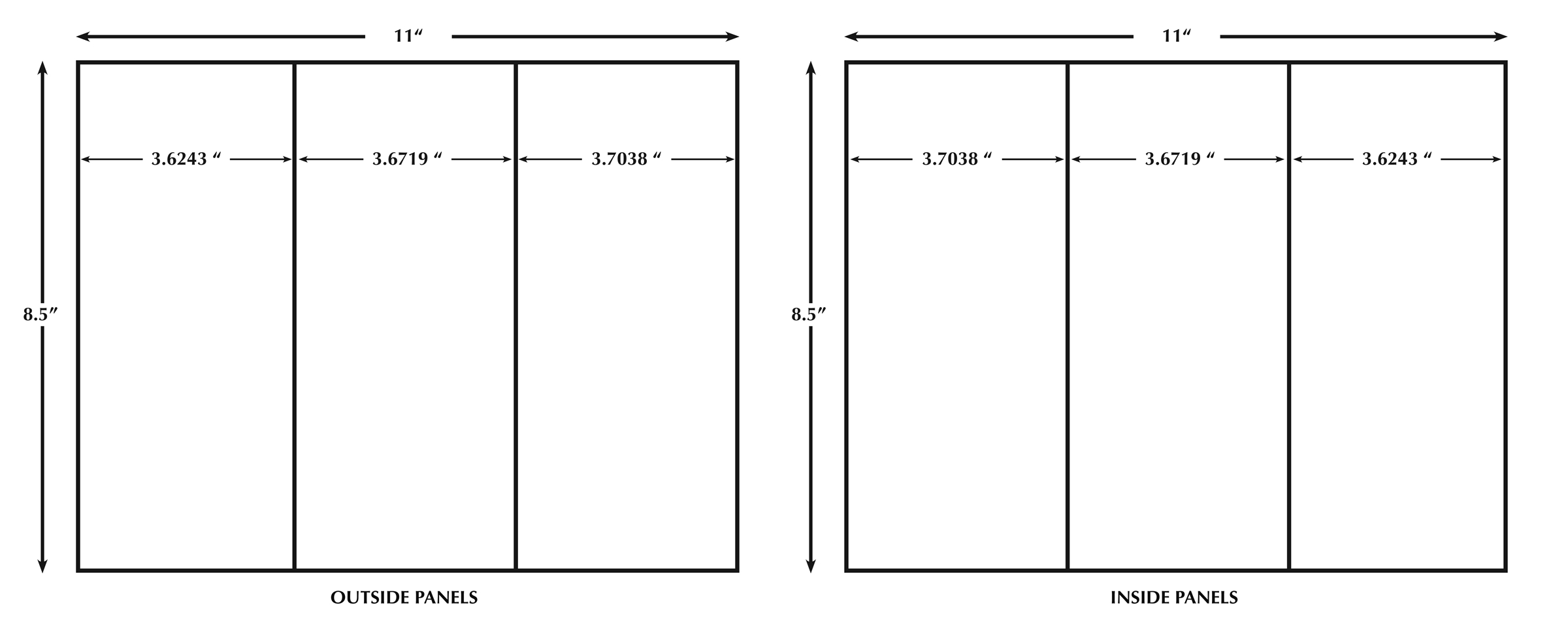 Trifold Size - Falep.midnightpig.co Intended For Three Fold Card Template