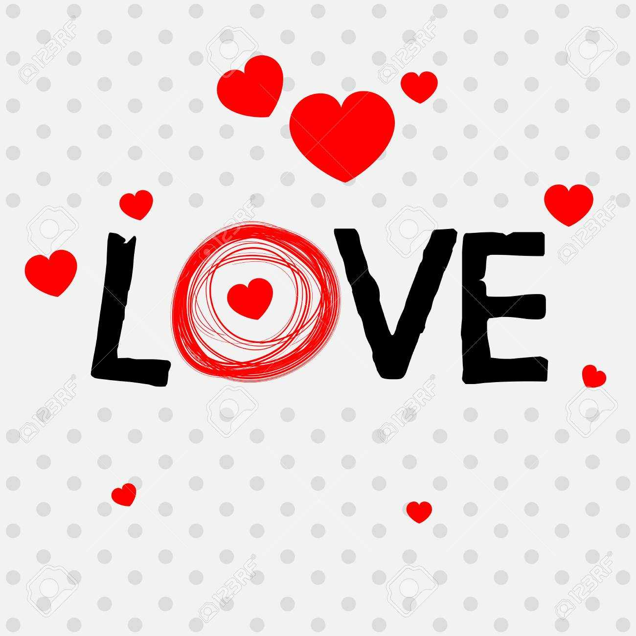 Valentine Card Template With Word Love Illustration With Regard To Valentine Card Template Word