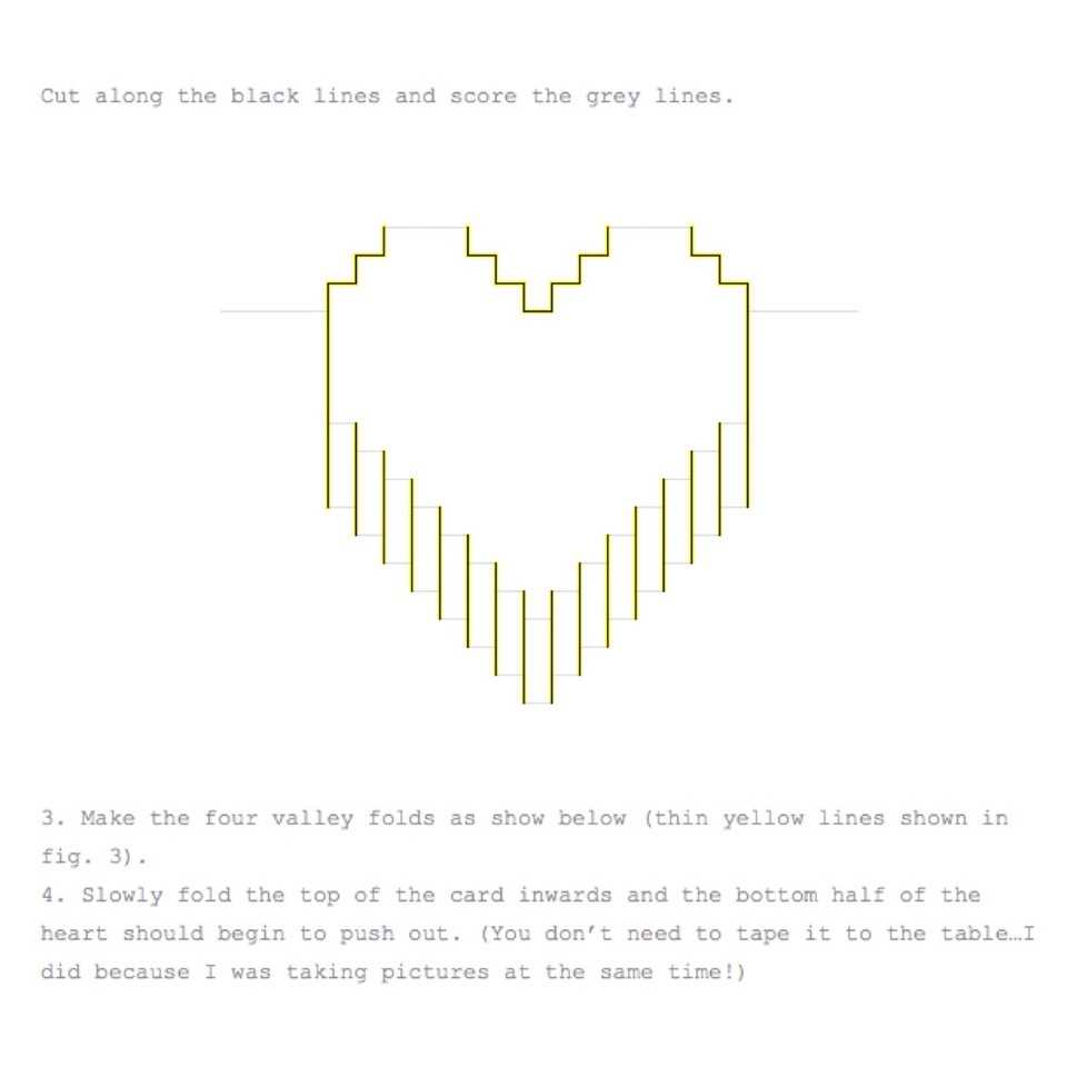 Valentines Day Pixelated Popup Cardlindsey Holmes - Musely With Regard To Pixel Heart Pop Up Card Template