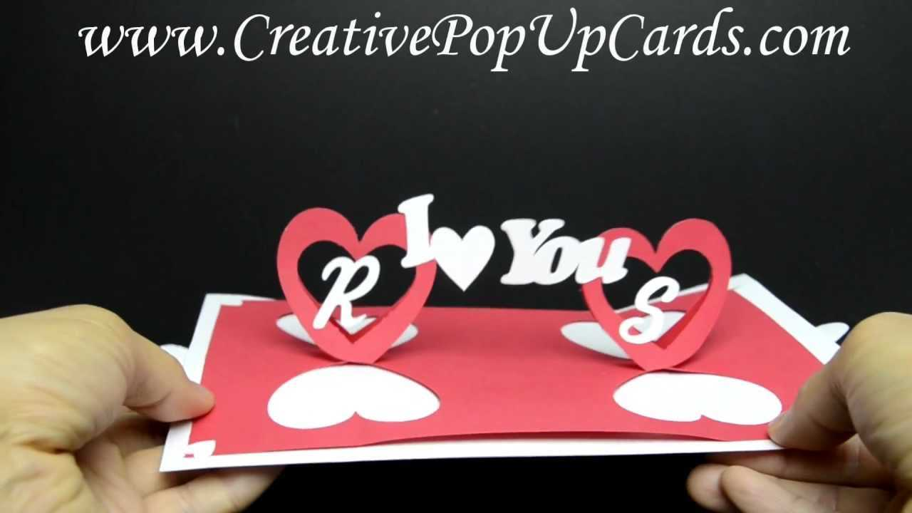 Valentines Day Pop Up Card: Twisting Hearts Regarding Twisting Hearts Pop Up Card Template
