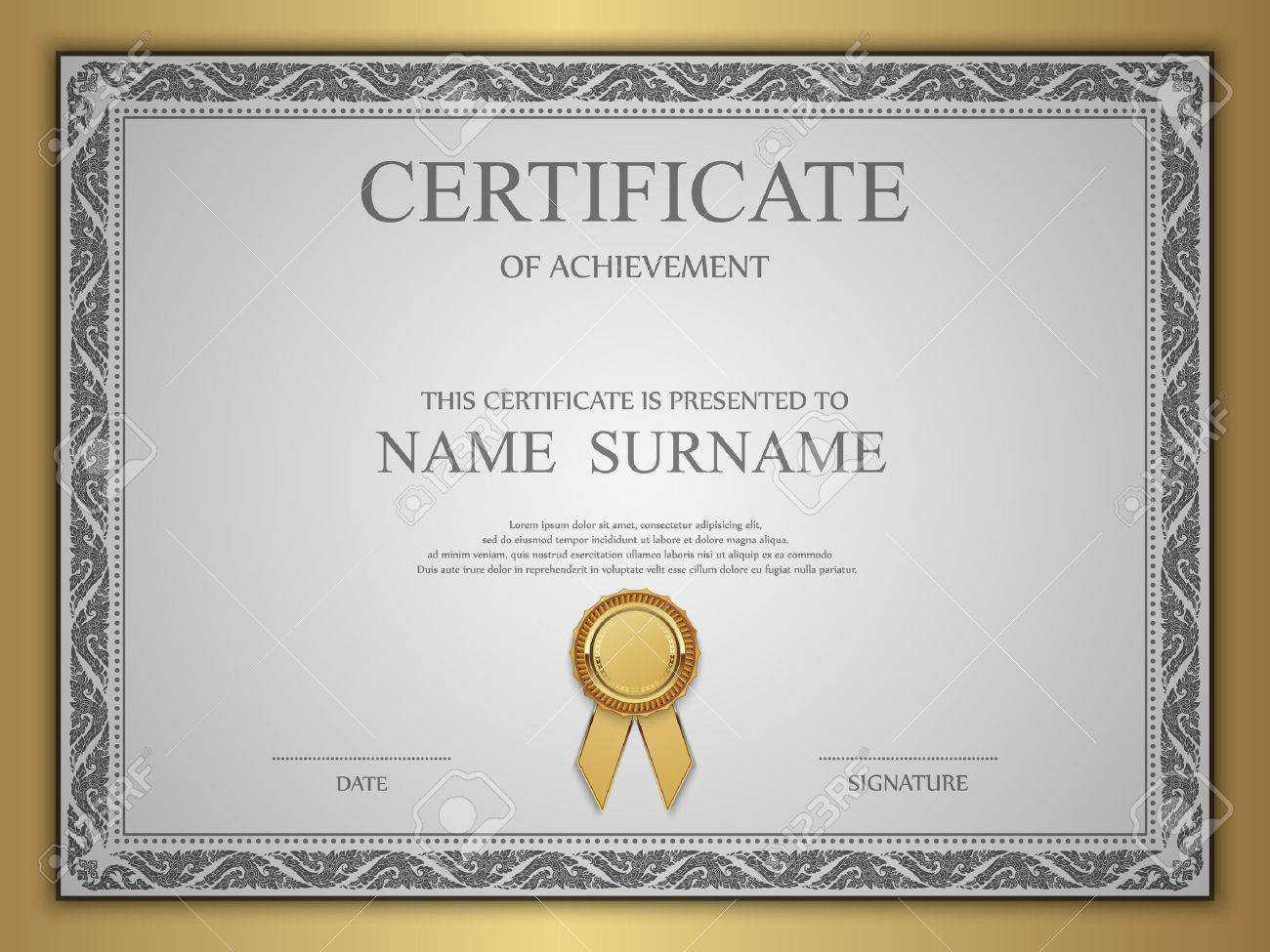 Vector Certificate Template. Regarding Commemorative Certificate Template