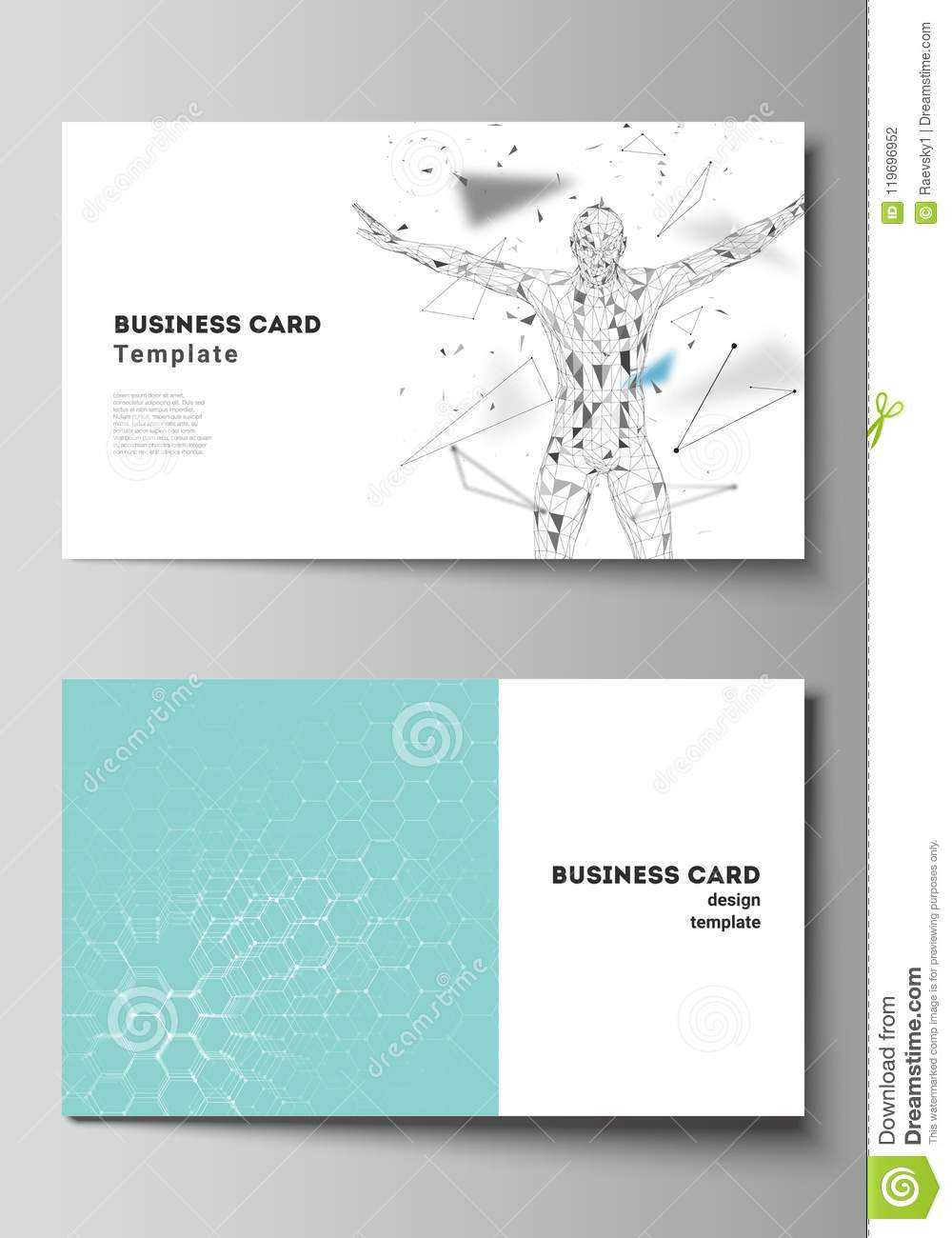 Vector Illustration Of The Editable Layout Of Two Creative In Medical Business Cards Templates Free