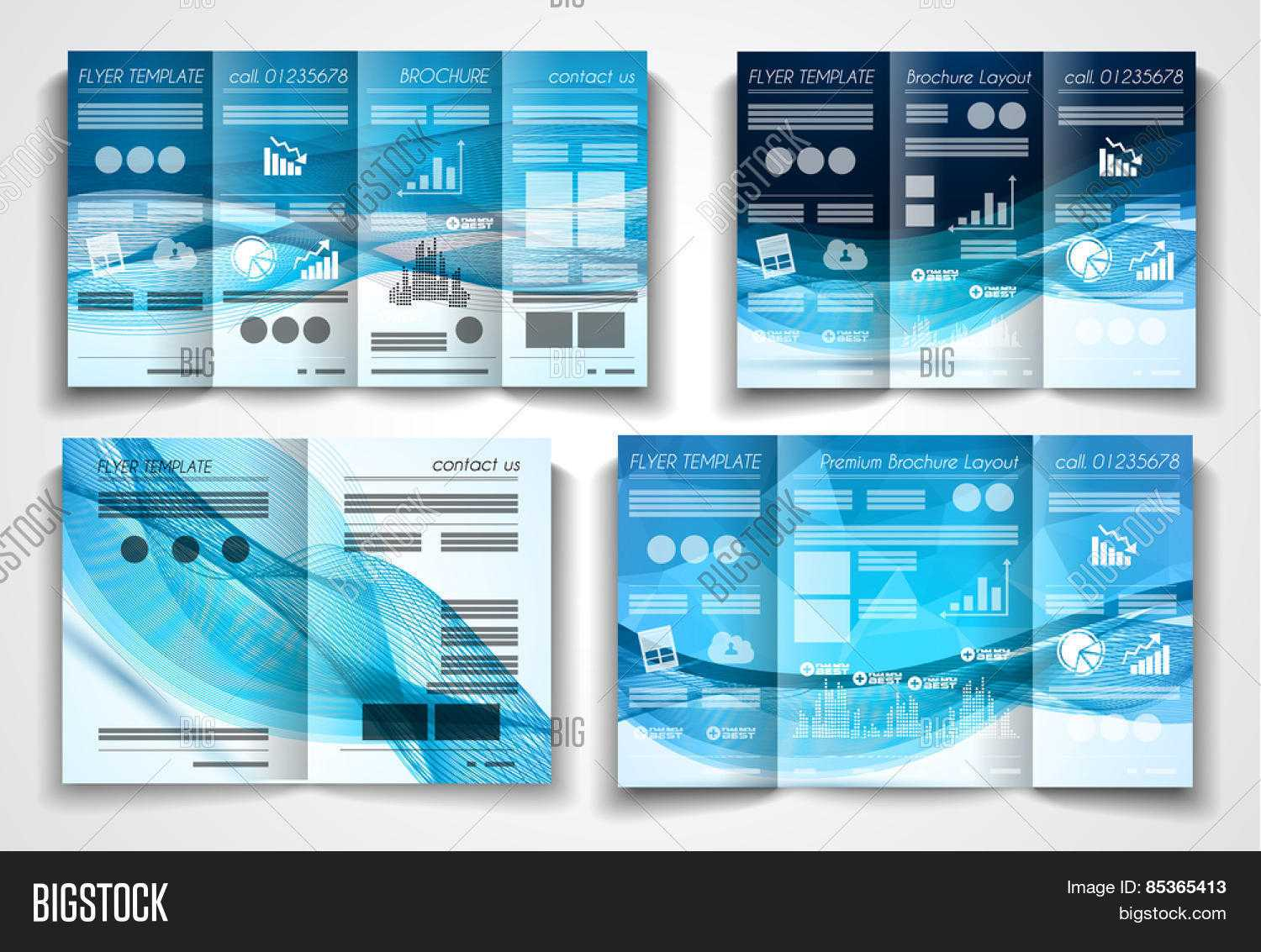 Vector Tri Fold Vector & Photo (Free Trial)   Bigstock Pertaining To Product Brochure Template Free