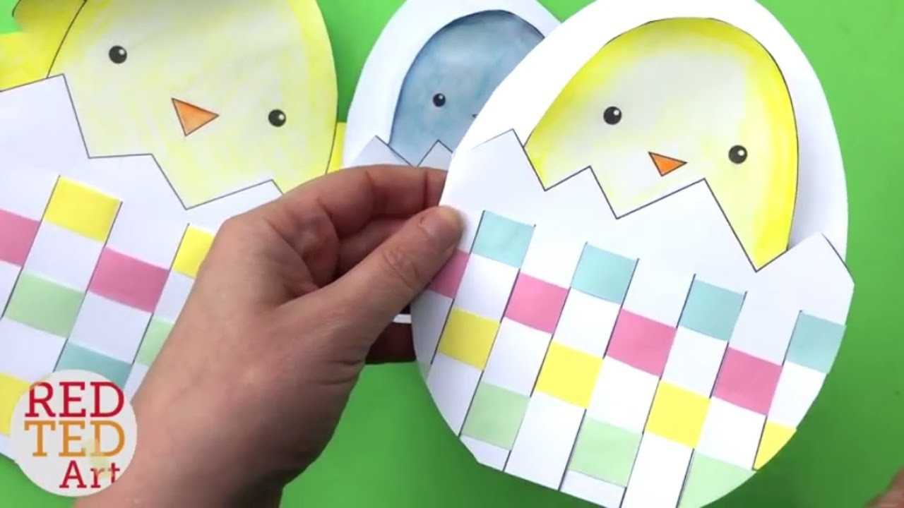Weaving Chick Cards With Template - Easy Easter Card Diy Ideas With Regard To Easter Chick Card Template