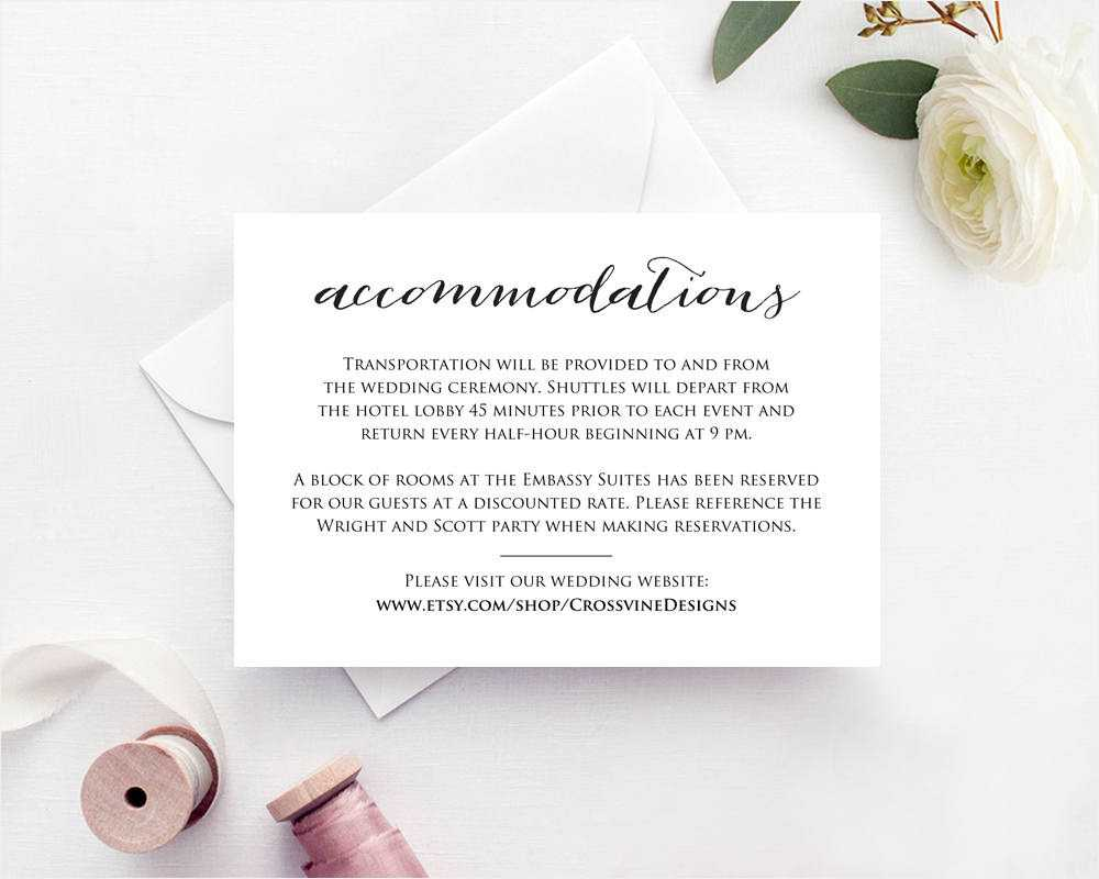 Wedding Information Card Examples - Dalep.midnightpig.co Inside Wedding Hotel Information Card Template