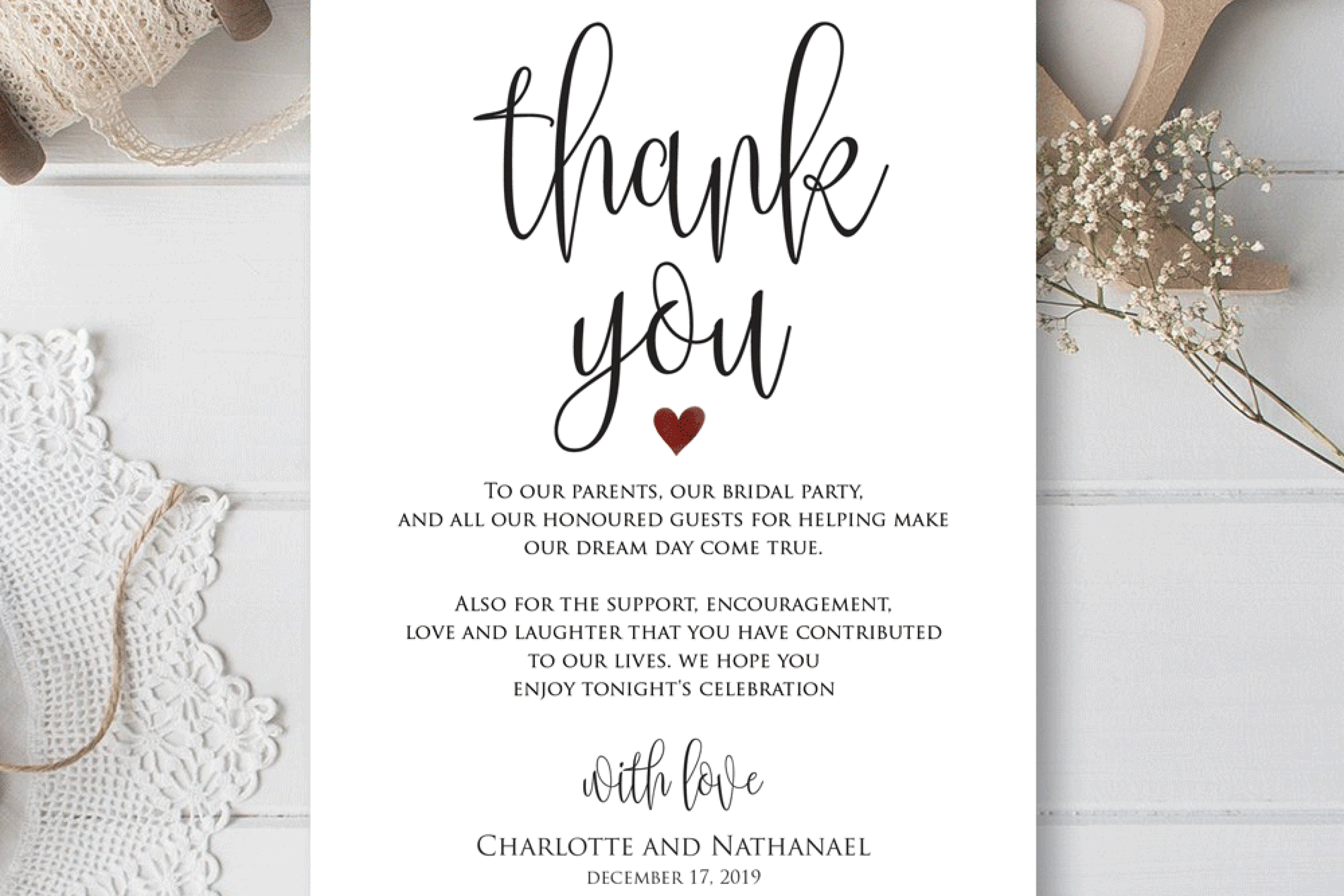 Wedding Thank You Cards Template - Falep.midnightpig.co With Thank You Note Card Template