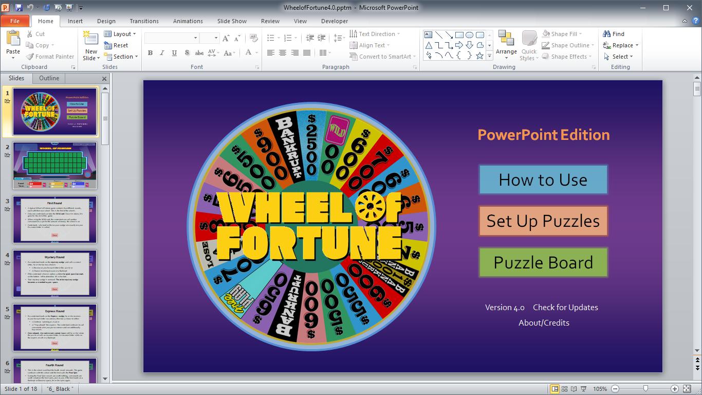 Wheel Of Fortune For Powerpoint - Gamestim Pertaining To Wheel Of Fortune Powerpoint Template