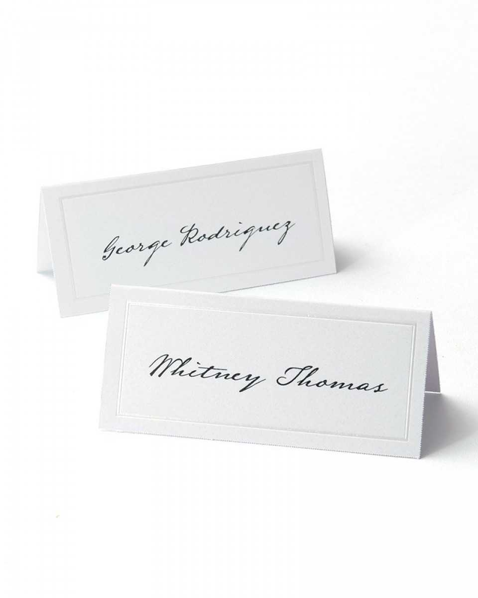White Pearl Border Printable Place Cards Regarding Imprintable Place Cards Template
